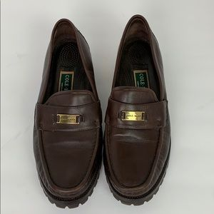 Cole Haan Loafers 10B Brow Leather EUC